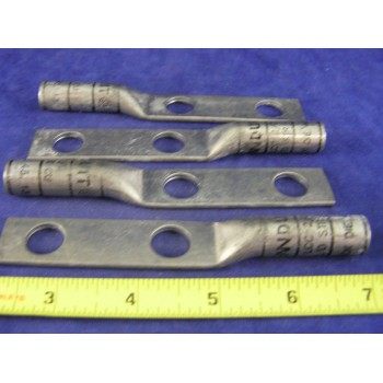 """PANDUIT LCC 2/0 Awg Lug 2hole, Long Barrel, 1/2""""Bolt, 1.75""""Space, Black (1ea)"""