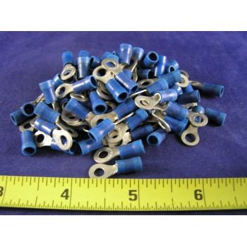 AMP BLUE VINYL RING, 16-14 AWG, #8 screw (pkg of 100)