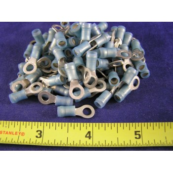 AMP BLUE NYLON RING, 16-14 AWG, #8 screw 51864-8 (1 package of 100)