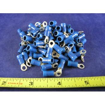 AMP BLUE VINYL RING, 16-14 AWG, #6 screw (1 pkg of 100)