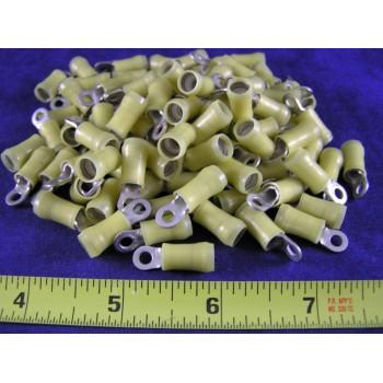 AMP YELLOW NYLON RING, 12-10 AWG, #6 screw (1 Pkg of 100)