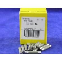 BUSS FUSES BK/GBB-25 25AMP 250V 5X32MM - BOX OF 100