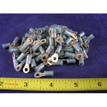 AMP BLUE NYLON RING, 16-14 AWG, #6 screw 51864-6 (pkg of 100)