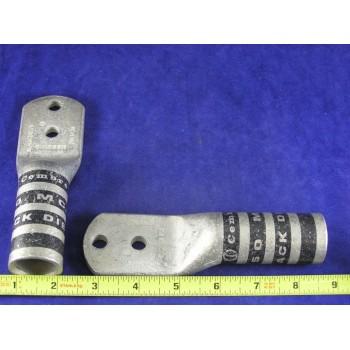 """CEMBRE 750 kcmil LUG, 2 Hole, 3/8"""" bolt, 1"""" center,BLACK, CL750-D38 (1 Each)"""