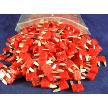 LITTELFUSE 297010 AUTOFUSE MINI 10 AMP RED (500 FUSES)