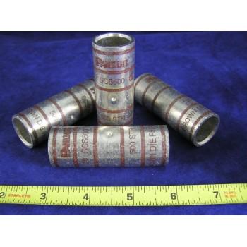 PANDUIT SCS500-6 500 STR CU Copper Butt Splices, Brown (1EA)