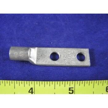 """GE L117 #4 Awg Lug 2Hole Short Barrel 1/4""""Bolt 3/4""""Space Gray W/Peep"""
