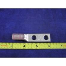 "PANDUIT 1/0 AWG LCD1/0-38D-X, 2hole, 3/8""stud, 1""center, w/peep, std barrel, 1ea"