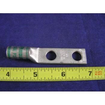 """PANDUIT #1 AWG LUG LCD1-38D, 2hole, 3/8""""Bolt, 1""""Space,W/Peep (1ea)"""