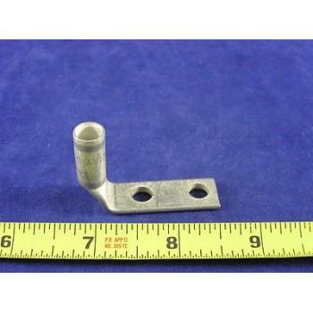 """PANDUIT LCD414BFL #4 Awg Lug 2hole 90º Barrel 1/4""""Bolt 3/4""""Space W/Peep (1ea)"""