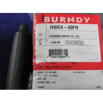 BURNDY HSIC4-40FR HEATSHRINK ENDCAP #4-4/0