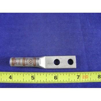 "SPPCLL-2 #2 Awg Lug 2Hole Long Brl 1/4""Bolt 5/8""Space Brown W/Peep(1ea)"