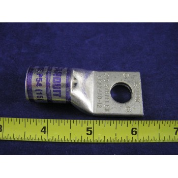 "PANDUIT LCAX4/0-12-X 4/0 Awg 1Hole Flex Std Barrel 1/2""Bolt Purple (1ea)"